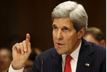 John Kerry at the Senate pointing fingers