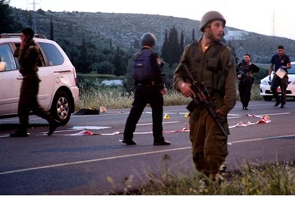 Scene of terror attack near Hevron