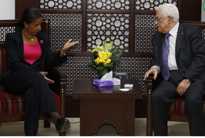 Rice and Abbas meet in Ramallah