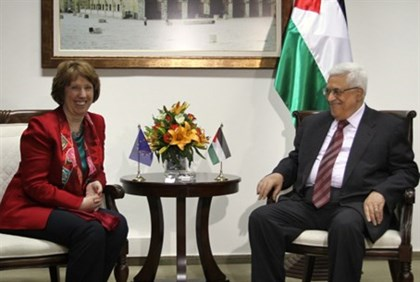 EU Foreign Policy Chief Ashton and PA Chairman Abbas (archive)