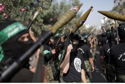 Not disarming: Hamas terrorists in Gaza
