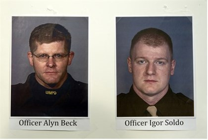 Murdered police officers Alyn Beck and Igor Soldo
