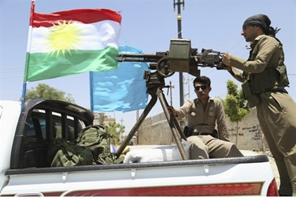 Kurdish Peshmerga forces make their way to Kirkuk