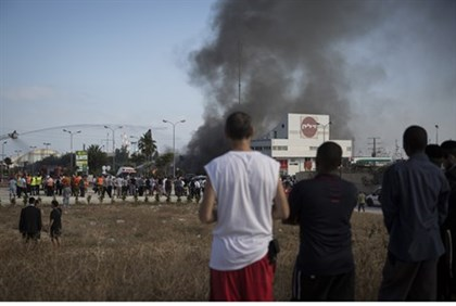 Smoke from Ashdod gas station hit by rocket