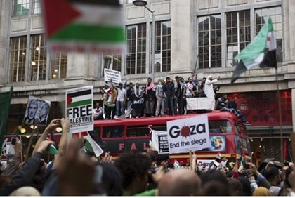 Anti-Israel rally in London (file)
