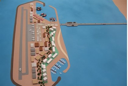 Model of proposed artificial island