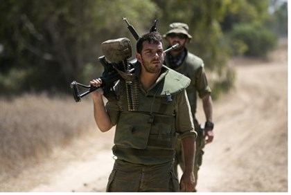 IDF reservists on the border with Gaza