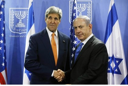 John Kerry meets with Binyamin Netanyahu as ceasefire efforts continue