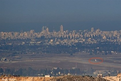 A view of Ben Gurion Airport from Samaria