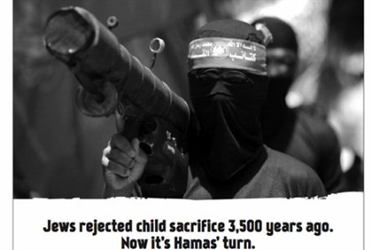 """Jews rejected child sacrifce - now it's Hamas' turn"""