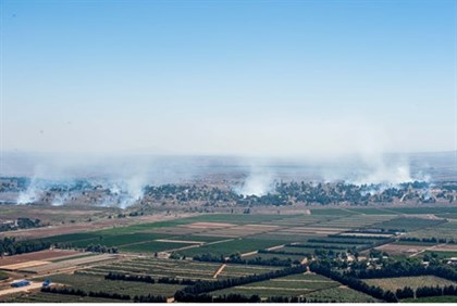 Clashes in Quneitra can be see from across the border in Israel