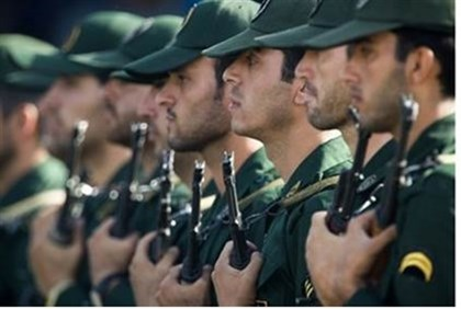 Members of Iran's Revolutionary Guard (IRGC)