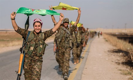 Kurdish YPG fighters in northern Syria