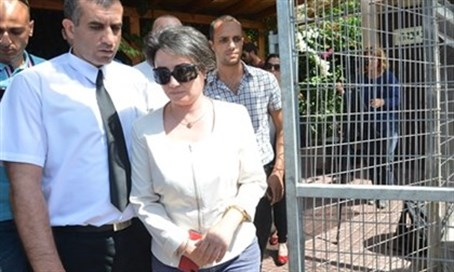 Zoabi after questioning (file)