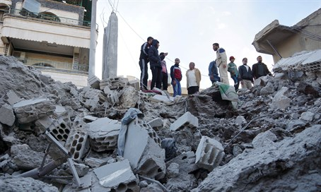 Site of airstrike in Syria