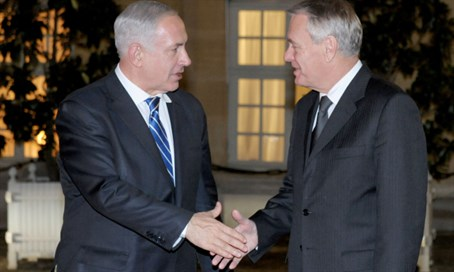Jean-Marc Ayrault meets with Netanyahu