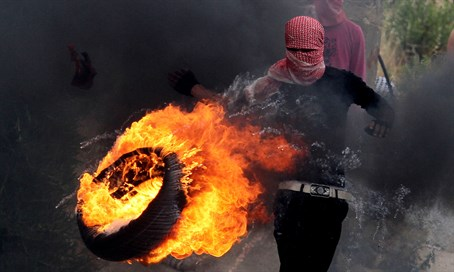 Nakba Day riots at Ofer Prison, May 15, 2014