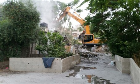 Demolition of illegal Arab buildings in Jerusalem