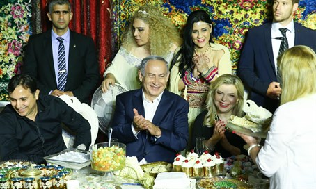 Binyamin and Sarah Netanyahu at Moroccan Mimouna celebrations