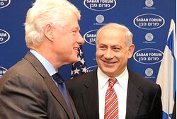 Bill Clinton and Netanyahu in 2009