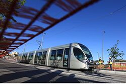 Light rail train, Jerusalem