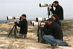 Photographers in Gaza, 2009.