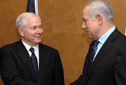Gates meets with Netanyahu (archive)
