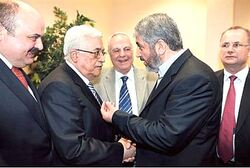 Mahmoud Abbas and Khaled Mashaal
