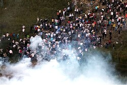 Mass riot on border with Syria (file)