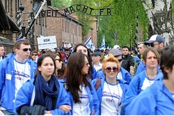 Israeli youth at Auschwitz
