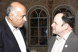 Jibril Rajoub with actor Jason Alexander