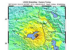 USGS map of Oct 23 earthquake