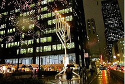 Public menorah at Daley Plaza, Chicago