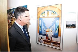 Education Minister Gideon Sa'ar at Gush Katif Museum