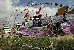 Gazans Rally for Egypt to Open Rafiah