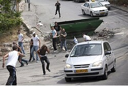 Arabs attack vehicle
