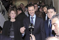 Assad and Wife Asma