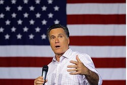 Romney at a campaign stop in Dayton, Ohio