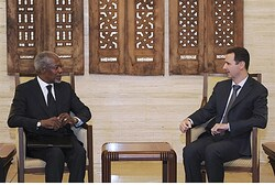 Annan and Assad meet in Damascus