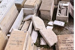 Desecration of graves at Mount of Olives
