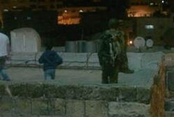 Soldiers on roofs after Arab attacks Saturday night