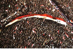 Supporters of Muslim Brotherhood demonstrate at Tahrir square