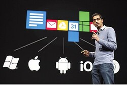 Sundar Pichai, senior vice president of Google Chrome, speaks during Google Conference