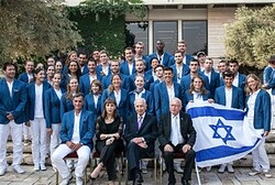 President Peres and the Israeli Olympic team