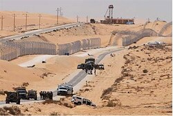 IDF Israeli soldiers at scene of terrorist attack near the Sinai  border