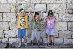 Preschool children in Jerusalem