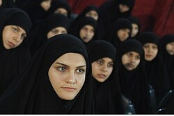 Lebanese Shi'ite women listen to Nasrallah address