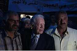 Former President of the United State of America, Jimmy Carter, visits at the Arab neighborhood of Si
