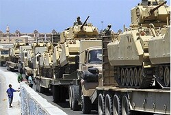 Egyptian armor enters Rafah