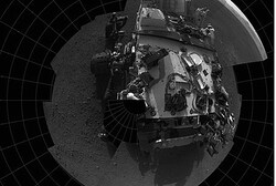 This self-portrait courtesy of NASA shows the deck of the Curiosity rover from the rover's Navigatio